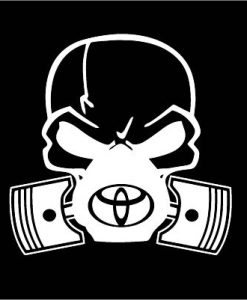 Toyota skull mask JDM Decal Sticker