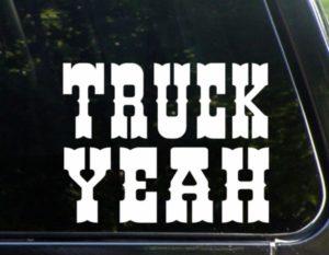 Truck Yeah decal sticker