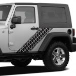 Jeep Tire Tread Body Side Jeep Decal Stickers