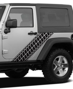 Jeep Tire Tread Body Side Decal
