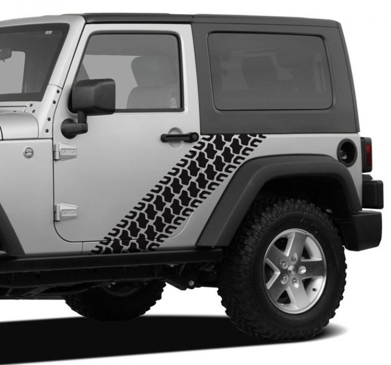 Jeep Tire Track Beanie Black