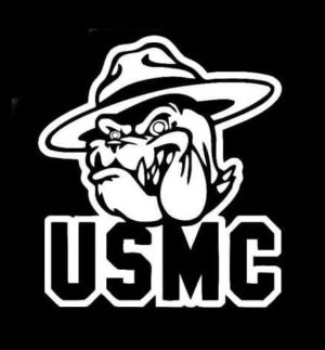 USMC Devil Dog Decal Sticker