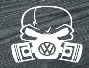 vw volkswagen skull mask decal sticker