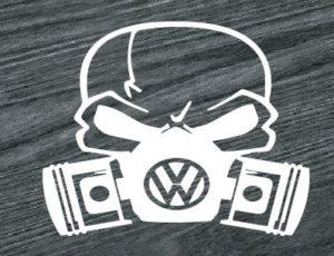 vw volkswagen skull mask decal sticker