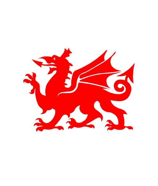 Wales red dragon decal sticker