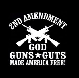 2nd Amendment God Guns Guts decal sticker