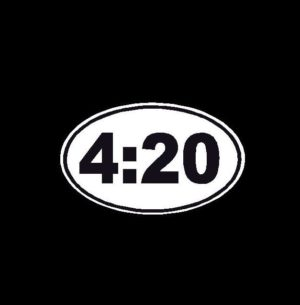 4 20 oval Decal Sticker