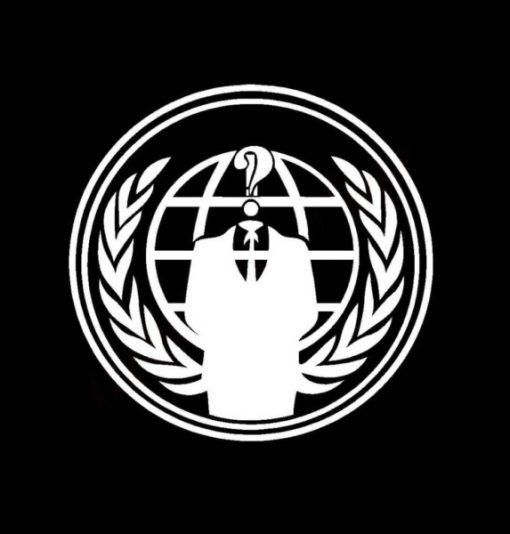 Anonymous Legion decal sticker