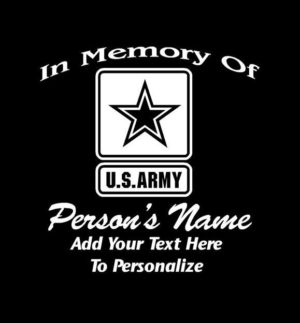 In loving Memory Decal Army