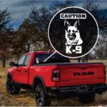 Caution K9 German Shepherd Window Decal Sticker