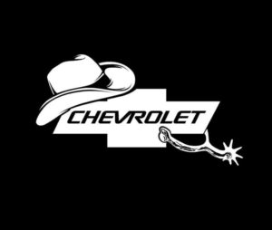 Chevy Truck Cowboy Decal Sticker