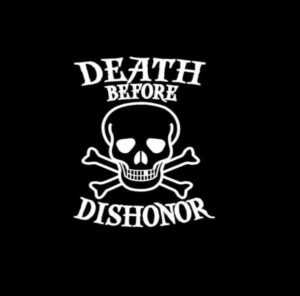 Death Before Dishonor Skull Decal Sticker a1