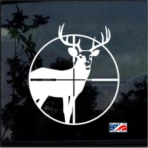 Deer in Cross hairs Window Decal Sticker