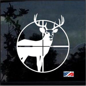 Deer in Cross hairs Window Decal Sticker