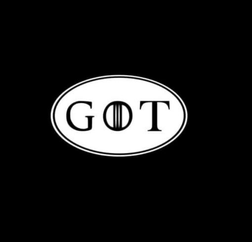 GOT game of thrones oval Decal Sticker