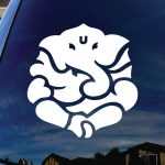 Ganesh Yoga Hindu Window Decal Sticker