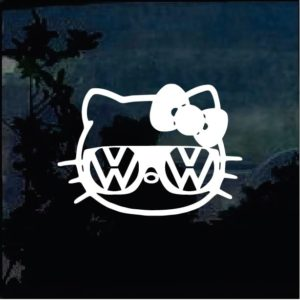 Hello Kitty VW Volkswagen Decal Sticker