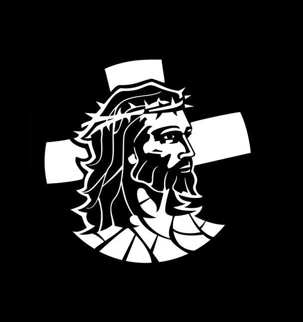 Jesus and cross decal sticker