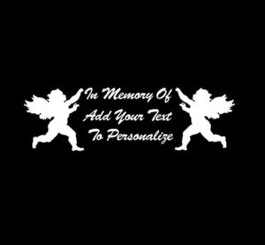 In loving Memory Decal Angel Cherub