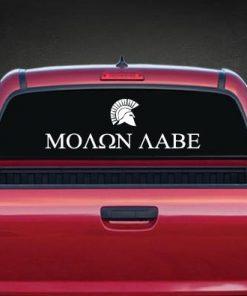 Molon Labe Rear Window Decal a2