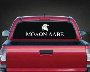 Molon Labe Rear Window Decal a2