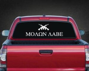 Molon Labe Rear Window Decal a3
