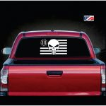 Punisher Skull Flag 3 percenter Truck Decal Sticker