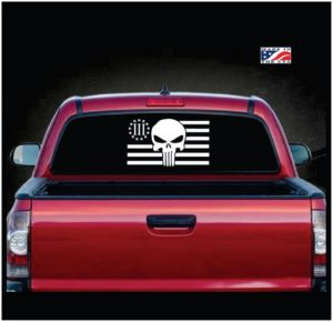 Punisher Molon Labe 3 percenter decal sticker 2