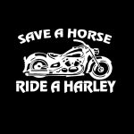 Save a Horse Ride a Harley Truck Decal Sticker