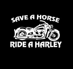 Save a Horse Ride a Harley Decal Sticker