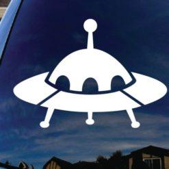 UFO Alien Spaceship decal sticker