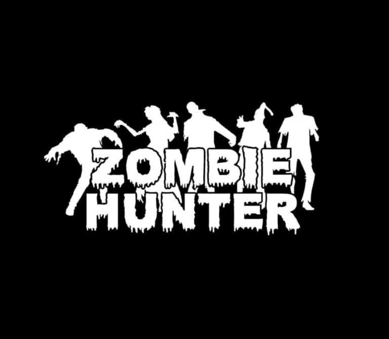 Zombie hunter decal sticker a6