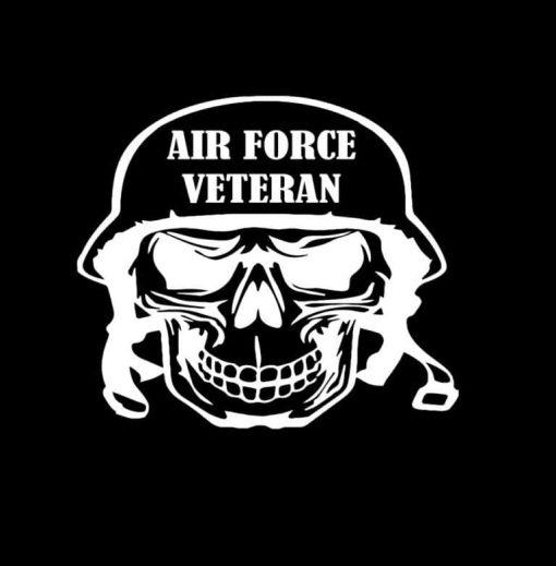 Air Force Veteran Skull Decal Sticker
