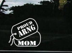 ARNG Air Nation Guard Mom Dog Tags Decal