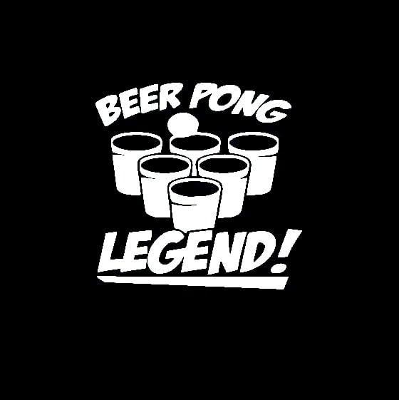 Beer Pong Legend Window Decal Sticker