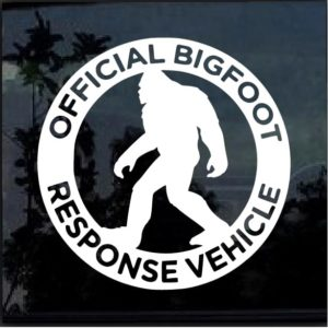 big foot response vehicle decal sticker
