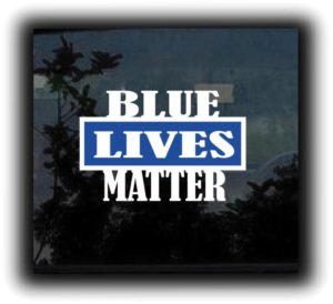 Blue Lives Matter decal sticker