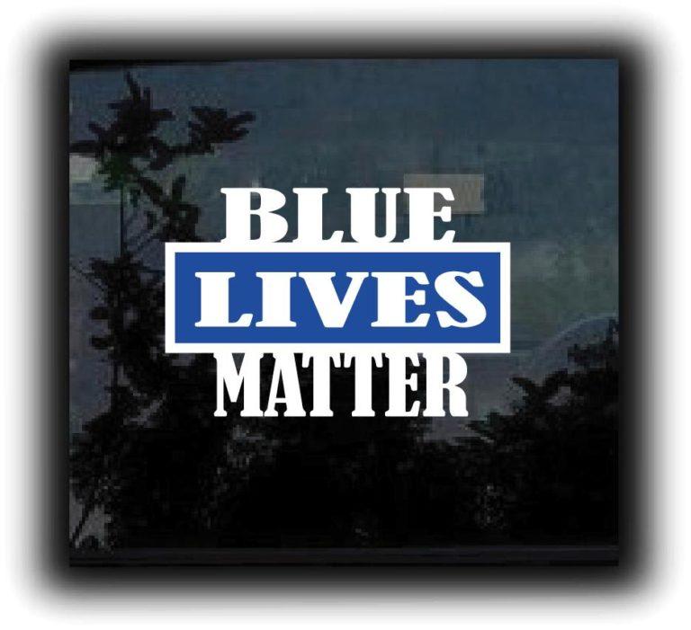 Blue Lives Matter decal Stickers
