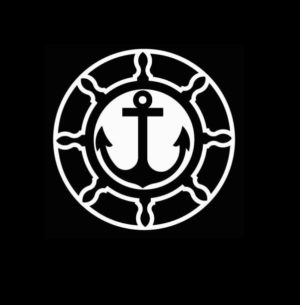 Boat wheel and anchor Decal Sticker