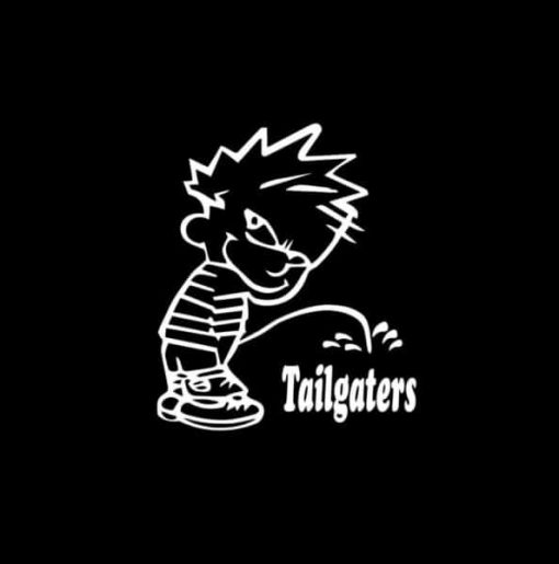 Calvin Piss on Pee on Tailgaters Decal Sticker