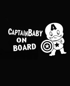 Captain America Baby on Board Decal
