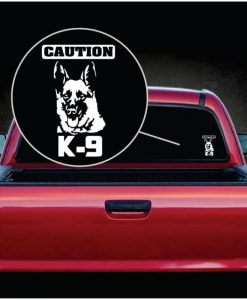 caution k9 german shepherd decal sticker