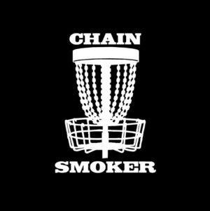 Chain Smoker Disc Golf Window Decal