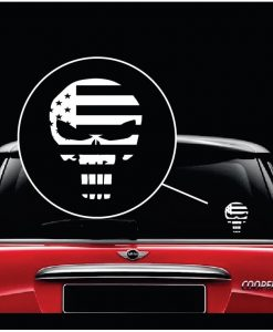 chris kyl punisher flag in skull window decal sticker