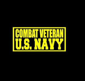 US Navy Combat Veteran Decal Sticker