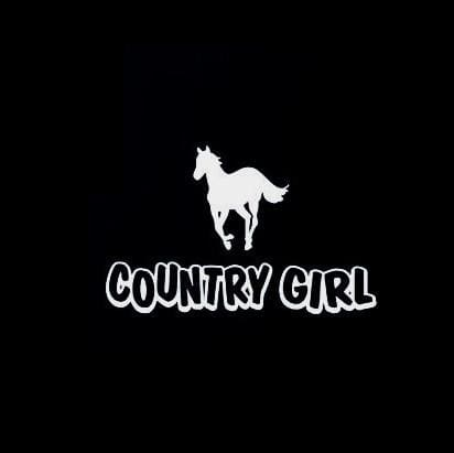 Country Girl horse decal sticker