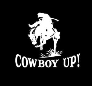 Cowboy Up Horse Rider Decal Sticker