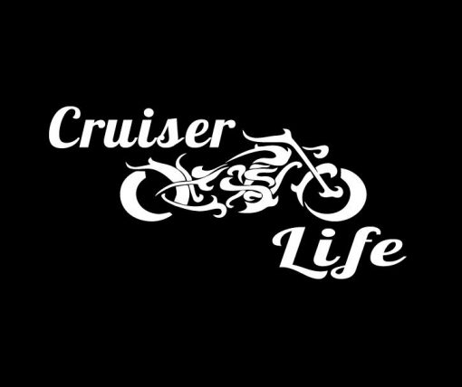 Cruiser Life Motorcycle Decal Sticker