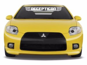 Transformers Decepticon Windshield Decals