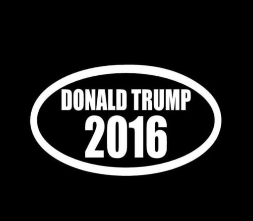 Donald Trump 2016 Oval Decal